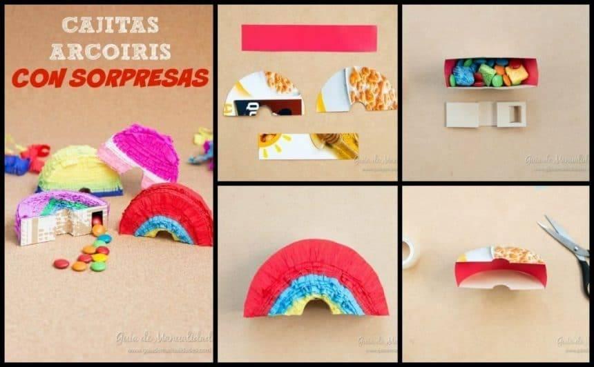 Rainbow boxes surprise