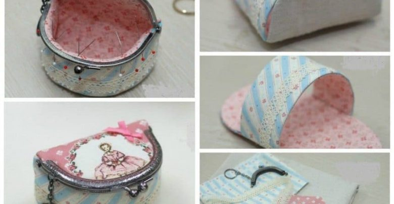 The unusual cosmetic bag with clasp