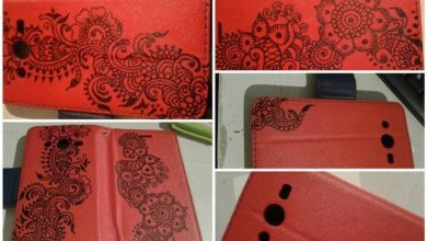 Drawing on mobile cover