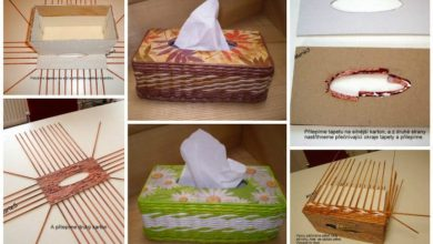 Tissue paper organizer from newspapers