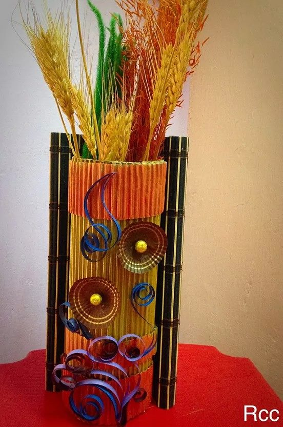 How To Make A Flower Vase Simple Craft Ideas Use Waste Material
