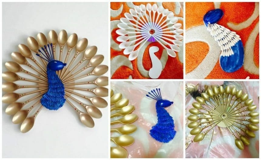 How To Make Peacock Wall Hanging Simple Craft Ideas