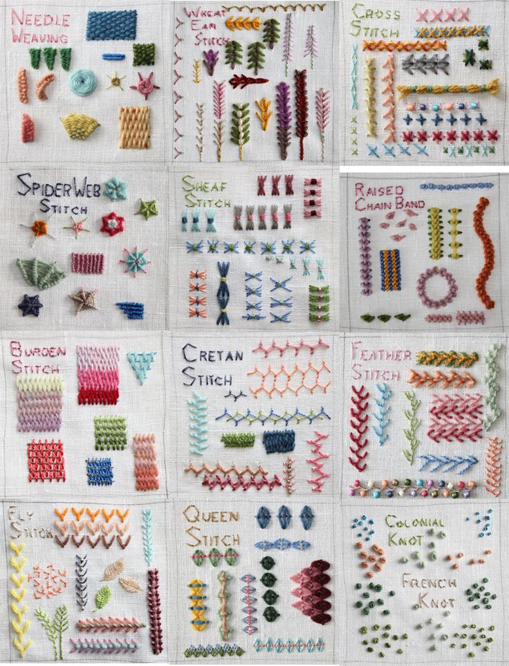 Different types hand embroidery stitches simple craft ideas