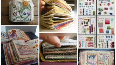 How to make sample stitch book