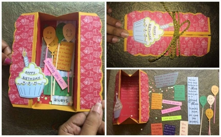 How To Make Easy Box Card Simple Craft Ideas