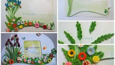 How to make quilling frame