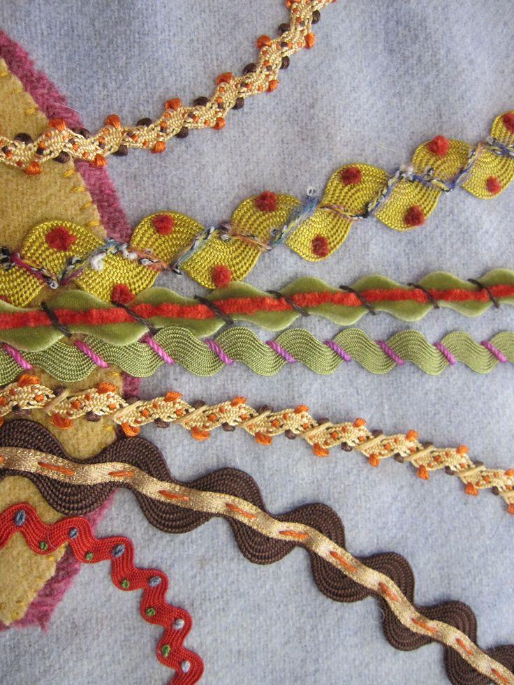Embroidery On Rick Rack Simple Craft Ideas