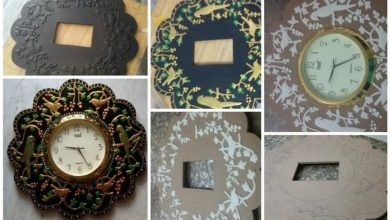 Procedure of making of this wall clock
