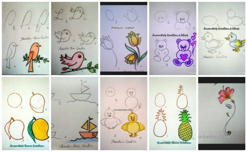 Draw with children