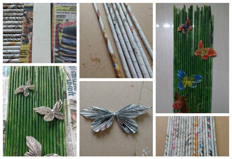 Wall Hanging Newspaper Craft Simple Craft Ideas