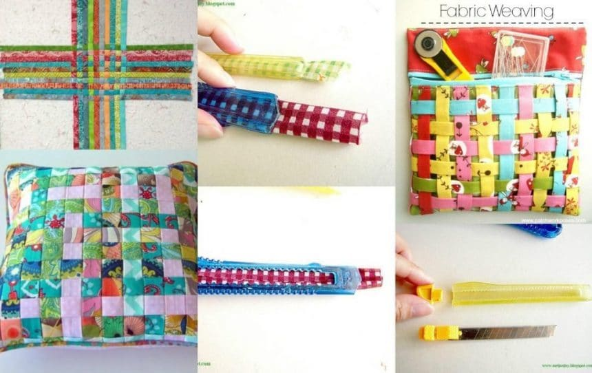 The Strips Of Fabric For Woven Fabric Simple Craft Ideas