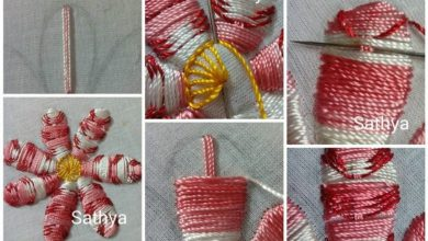 How to make hand embroidery flower
