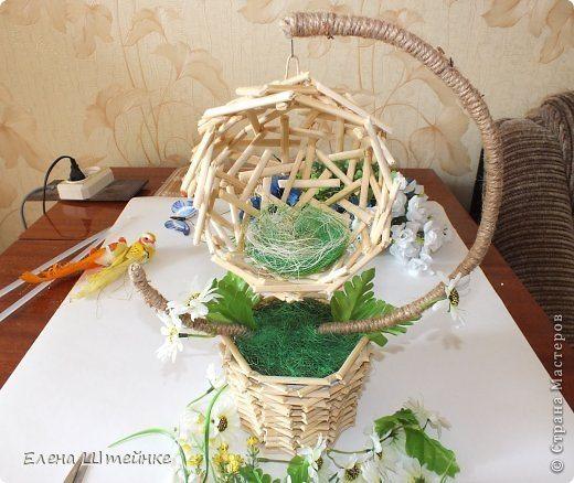 Сделать гнездо из ниток своими руками