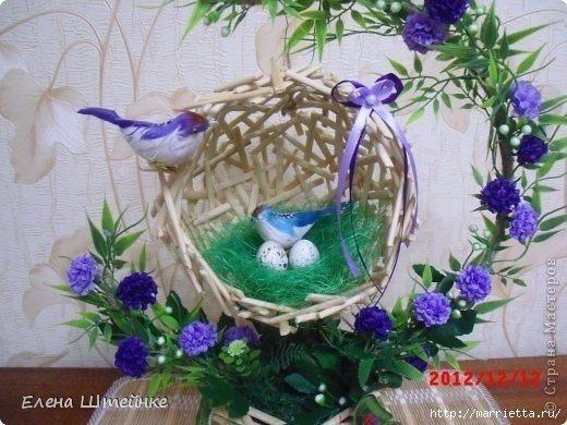 Гнездо с птичкой своими руками