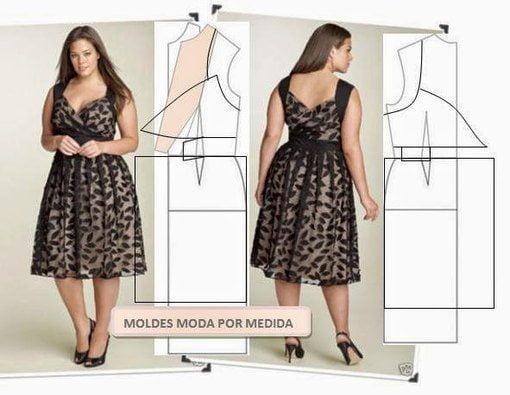 Сшить летнее платье на полную женщину