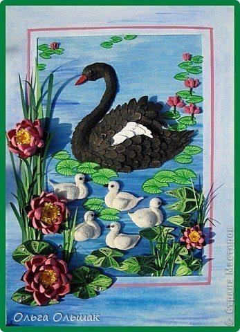 Картина с лебедями своими руками