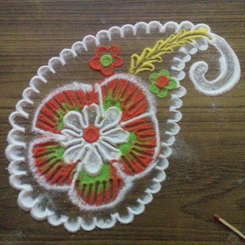 Rangoli Making Simple Craft Ideas