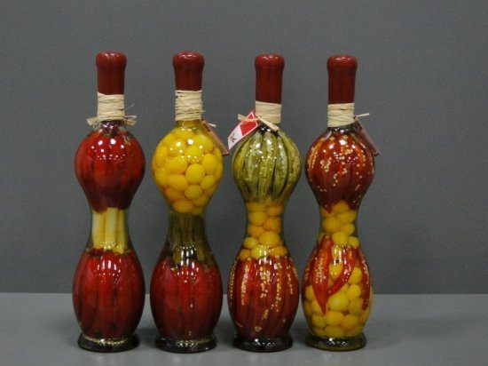 Decorative Bottles With Vegetables In Vinegar Unique Decorative Bottle With Vegetables For The Kitchen Decor  Simple Decorating Design