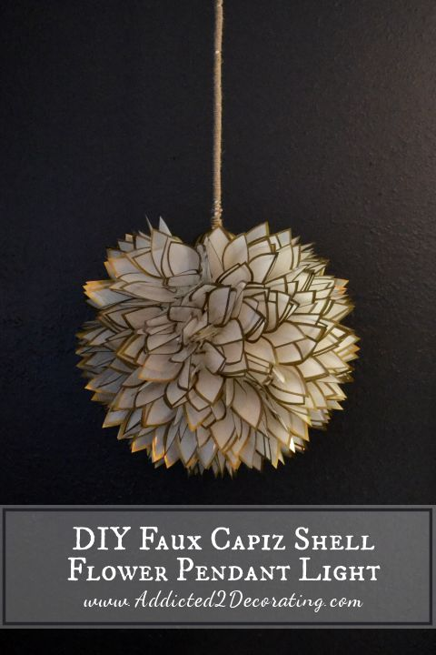 How To Make White Flower Pendant Chandelier Simple Craft