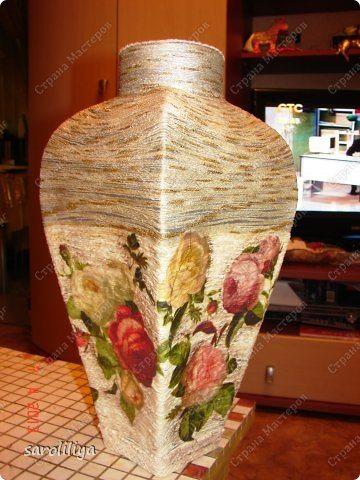 Сделать вазу своими руками папье-маше