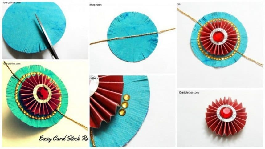 Easy Rakhi Making Craft With Card Stock Simple Craft Ideas