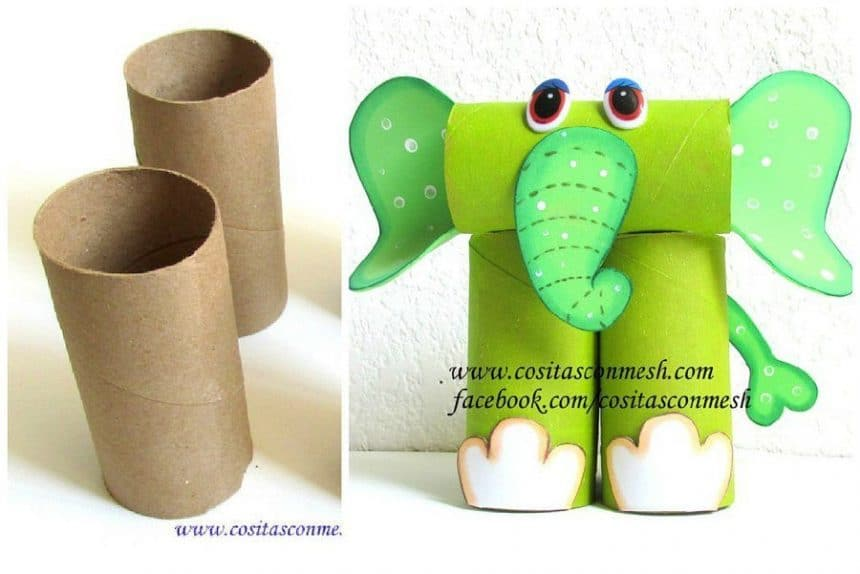 How to make elephant from rolls of toilet paper simple for How to use toilet paper rolls