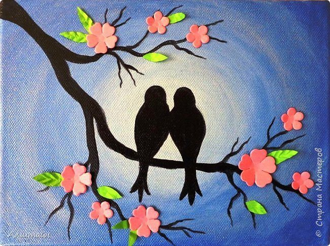 How To PaintBirds On The Branch Simple Craft Ideas