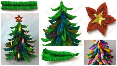 How to make Christmas trees corrugated paper