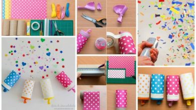 How to make confetti popper home paper party