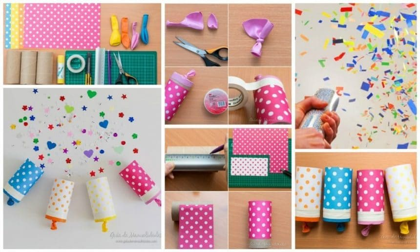 how to make confetti popper home paper party simple craft ideas