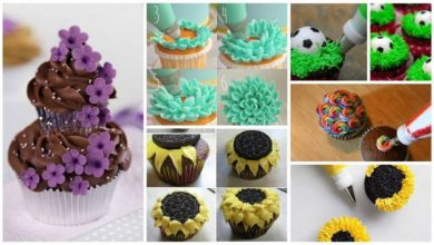 Different types of cupcakes making