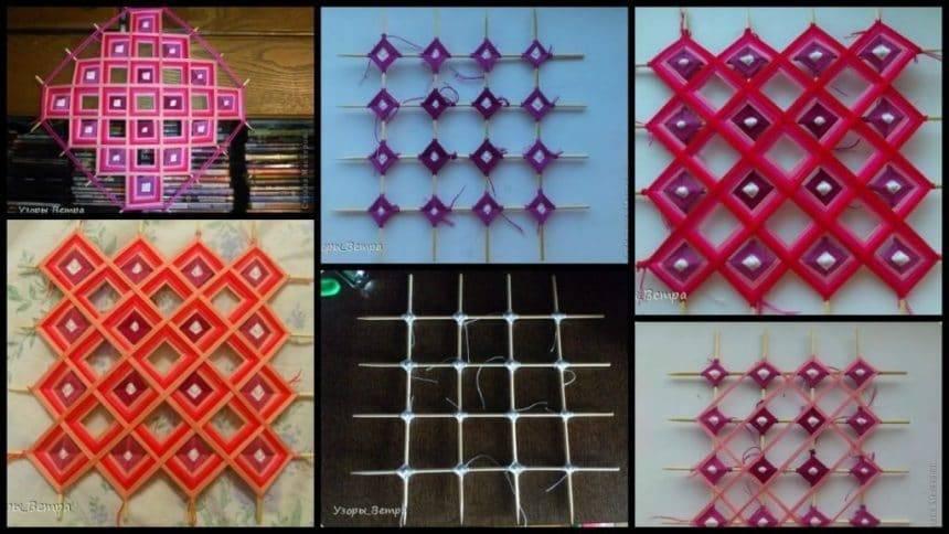 "Mandala in the style of ""Tibetan weaving"""