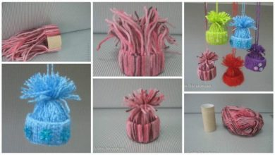 How to make little souvenir hats for christmas decorations