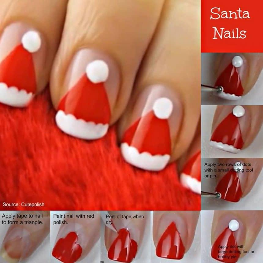Easy Christmas Nail Art Designs Tutorial: Christmas Nail Art Tutorial