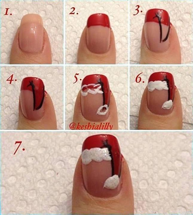 Christmas Nail Art Tutorial(155)