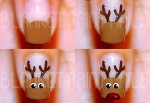 Christmas Nail Art Tutorial(158)