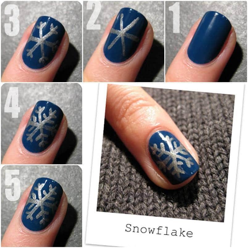 Christmas Nail Art Tutorial(166)