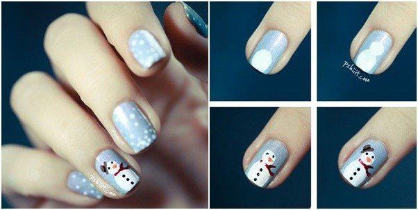 Christmas Nail Art Tutorial(167)