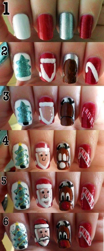 Christmas Nail Art Tutorial(169)