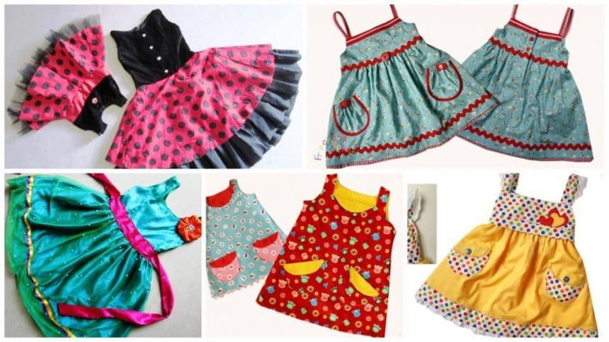 How to cut and sew different type of frock – Simple Craft Ideas
