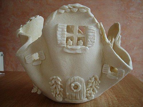 Salt Dough Lamps : How to make salt dough lamp - Simple Craft Ideas