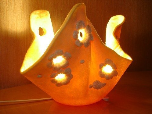 How to make salt dough lamp - Simple Craft Ideas