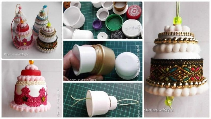 How to make christmas bell from waste material