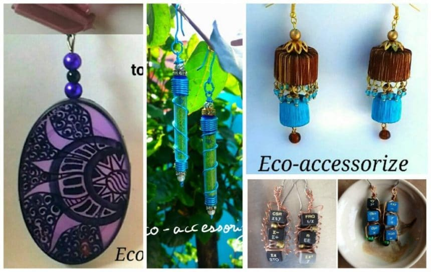 How to creative earring making from waste materiel for Waste crafts making