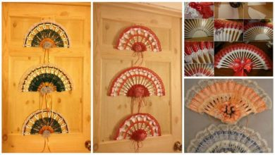 plastic fork fan wall art