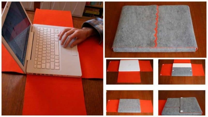 How to make laptop sleeve with buttons
