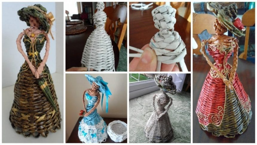How To Make Newspaper Weaving Doll