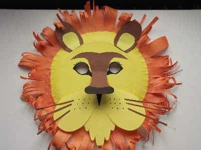 Have Fun Creating A Giraffe Mask Using Paper Plates Yellow Card And