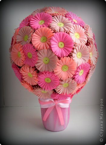 Цветы на шарике своими руками