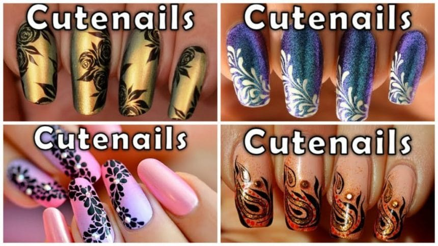 Nail art tutorial with simple steps simple craft ideas simple flowers chain nail art tutorial solutioingenieria Gallery